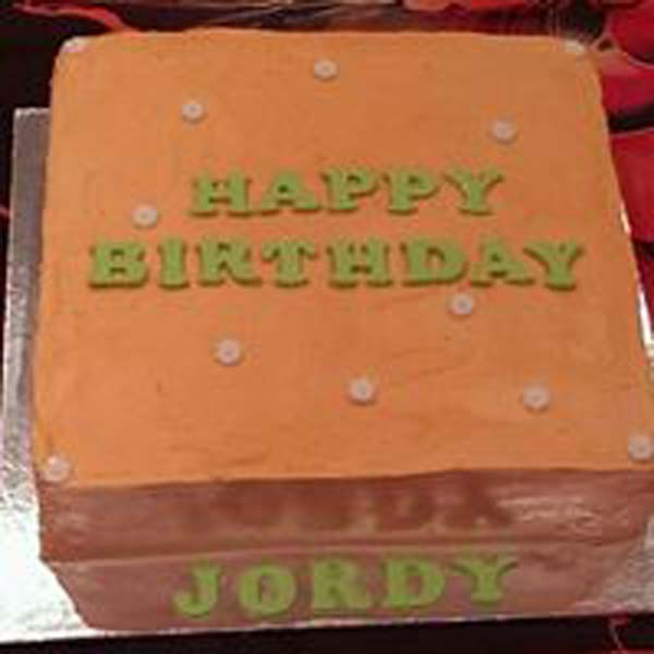 Peach And Lime Green Birthday Cake